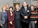 Group photo of researchinstitute from Japan visiting SGI.