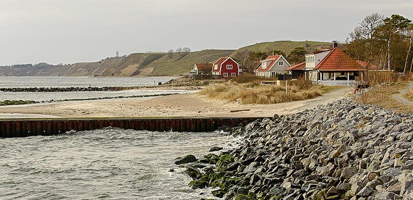 Stranderosion och erosionsskydd vid Löderup, Skånes kust